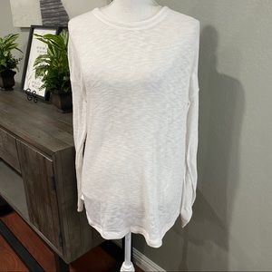 Nectar Clothing White Long Sleeve Top Back Tie L